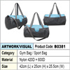 nylon sport bag / gym bag