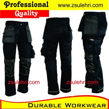 Mens Black Cargo Work Trousers/pants With Cordura Patches,Designed ...