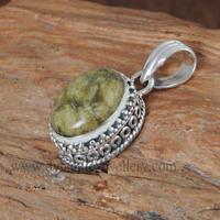 Canedian Jade 925 Silver Pendant