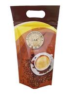 3 side seal plastic bag with zip/ 3 side seal ziplock bag/ 3 side seal coffee bag with hang