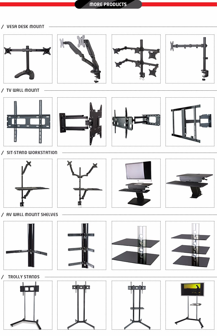 Vesa 400x400 Load Capacity 45kg Full Motion 180 Degree Tilt Swivel Tv Mount Extension Arm Wall Bracket
