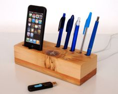Mobile Phone Dock And Pen Holder With Extra Usb Stands Unique Desk Office Accessory Stand