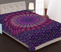 Mandala Wall tapestry Ombre Twin Wholesale Floral Purple 100% Cotton Beach Mat Wall Hangings