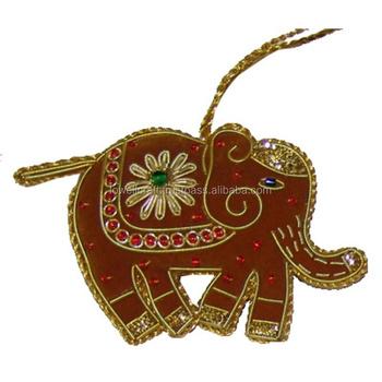 Whole Sale Christmas Zari Work Elephant Hanging Ornament Buy Indian Christmas Ornaments Camel Christmas Ornament Holiday Living Christmas Ornaments