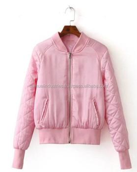 De las mujeres de la moda Vintage acolchado Rosa chaqueta   bebé Color rosa  equipo de a1aa142af11