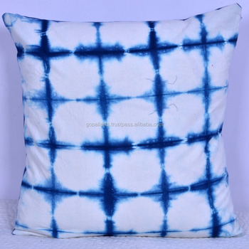 16 Abstract Tie Dye Decorative Pillow Cushion Cover Throw Ethnic Art India Square Case Plain