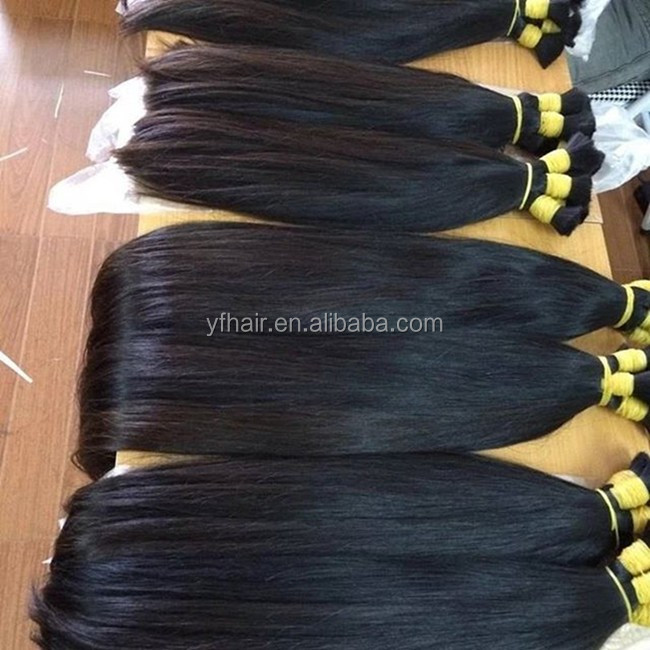 Factory Direct Sale Top Quality for Cuticle Hair Bulk,Virgin Human Hair Bulk Can Be Bleached to Any Color