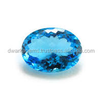 Natural Blue Topaz Loose Cut Gemstone In 6-10 mm Size And In Shapes Round, Oval, Pear, Heart Semi Precious Stone India
