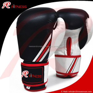 wholesale high quality PU leather mexico red boxing gloves