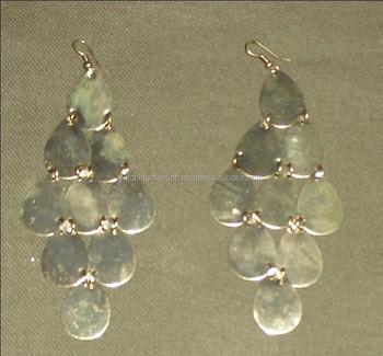 oval shape metal arrange in alternative earrings buy oval shaped