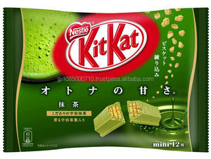 High quality kit Kat snack bar green tea chocolate made in Japan