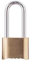 Combination Padlock Bottom 4 Dial Brass