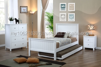 Kids Bedroom Furniture In White (single Bed,Chest Of Drawers ...