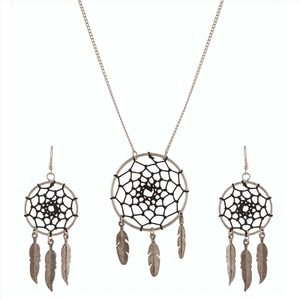 Zephyrr Fashion Pendant Long Necklace Hanging Earrings Combo for Women