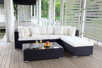 Nice Wicker Lounge Set Off White Cushion Patio Outdoor Furniture