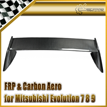 Carbon Fiber / FRP Fiber Glass EVO 7 8 9 FQ Style Rear Trunk Spoiler Wing Set For Mitsubishi