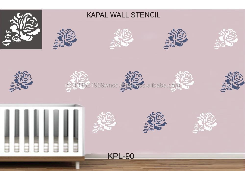 Decorative Flower Wall Stencil 0036 Buy Flower Drawing Stencil