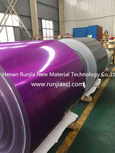 Henan Runjia high quality PE/PVDF color coated aluminium coil plate for decoration