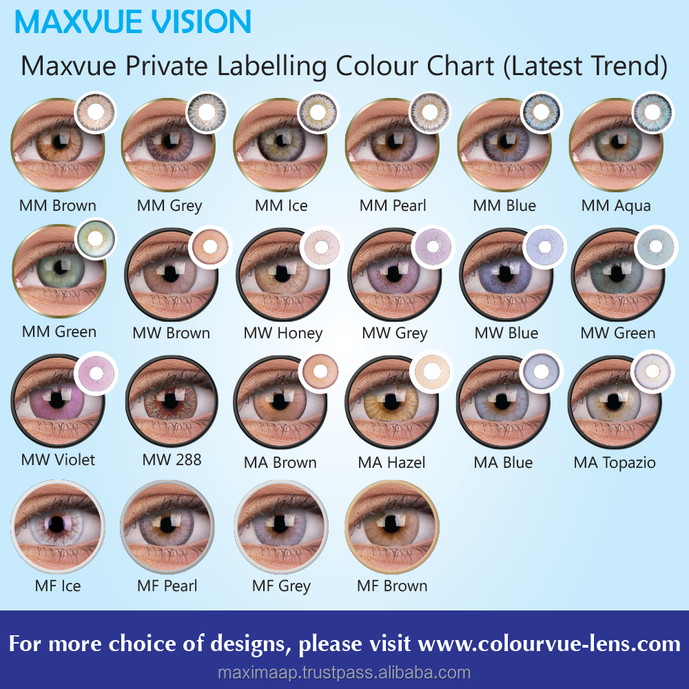 OEM service for Color Contact Lens by Maxvue Free samples provided