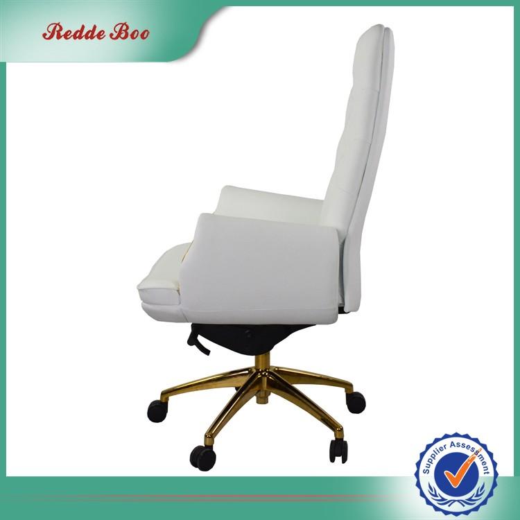 Moderne Buy Luxe En Blanche chaise Dossier Haut Chaise Bureau Haut Blanc Bureau De Cuir À chaise Bouton D29EIH