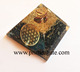 Latest Orgone Black Tourmaline Metal Flower Of Life Pyramids: Wholesale Root Chakra Reiki Healing Orgone Pyramids from India