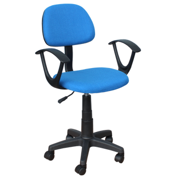 Office Armrest Fabric Kid Swivel Chair With PP Base And Adjustable Height  Function Carmen 6008