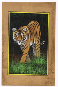 Indian Miniature Painting Water Color Wild Life Animal Art Wall Decor Wall Hanging Portrait