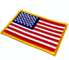High quality USA flag patch in custom size
