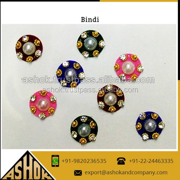 Dealer of indian bridal bindi sticker fashion round bindi sticker