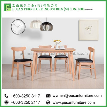 Malaysia Dining Table Set Wooden Dodot 5 Pieces Chairs Made In