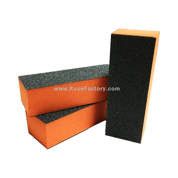 3 Way Orange Sponge Nail Buffer Block Sanding Made In Korea Sb110