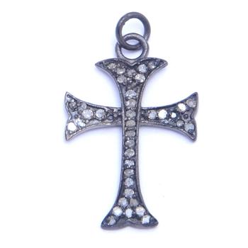 Gorgeous pave diamond cross charm pendant view pave diamond cross gorgeous pave diamond cross charm pendant aloadofball Gallery