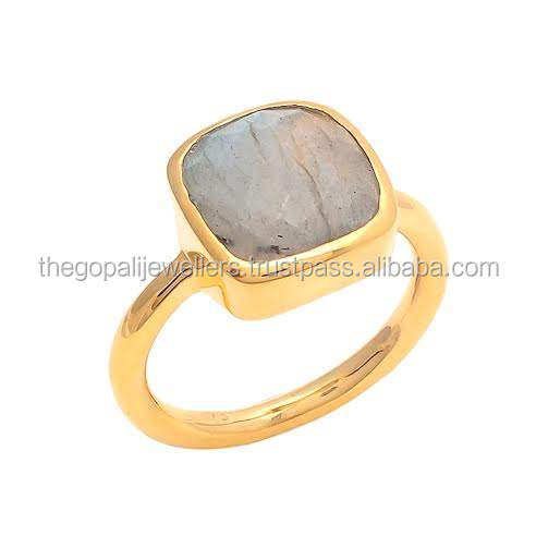 The Gopali Jewellers Handmade Labradorite Bezel Setting Ring, Wholesale Sterling Silver Ring Jewelry