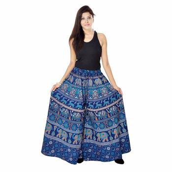 Jaipuri bandhej multi print womn 39 s divider skirt buy for Divider skirt images