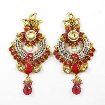 Indian Wedding Jewellery Sets Traditional Goldtone Peacock Design