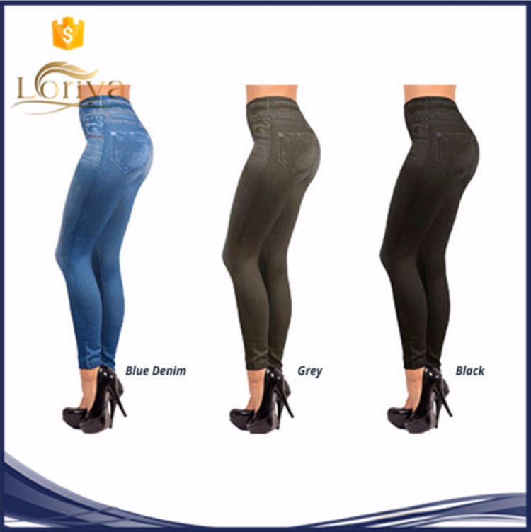 Hot sale breathable printed shaper jeggings