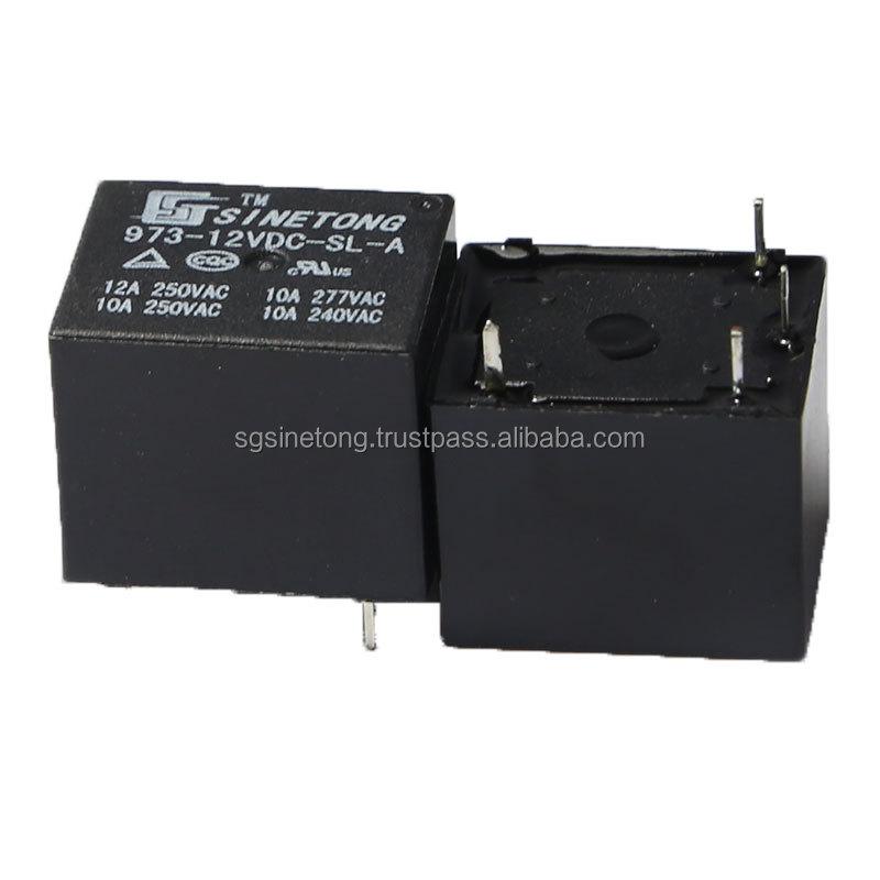 10 pzs Mini Reles electronicos DC 12V Negro mini rele de potencia