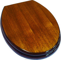 Teak Wood finish Toilet Seat Covers