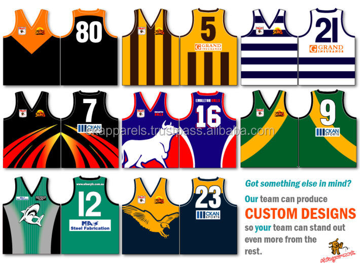 New Custom dye sublimated Australian Football Jersey