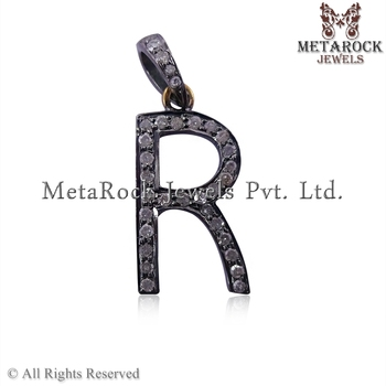Diamond initials alphabetical r letter charms pendantsterling 925 diamond initials alphabetical r letter charms pendant sterling 925 silver diamond jewelry initial diamond aloadofball Gallery