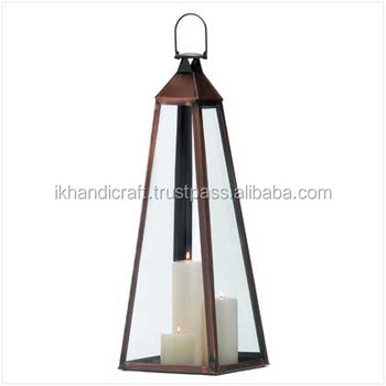 metal nautical hurricane glass large lantern copper metal glass lantern manufacture cheap lantern