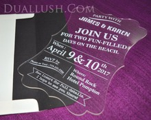 Luxury Acrylic Laser Cut Wedding Invitation