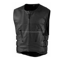 Mens Summer Tight Biker Leather Vest