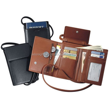 eeca4231f99 Customized Best Quality Neck Travel Wallet PU Leather Passport  Credit Card  Holder At Best Price