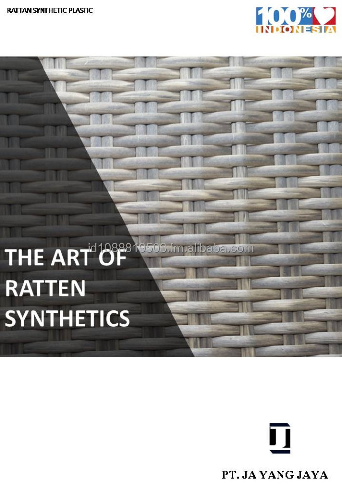 MATERIALE SINTETICO IN RATTAN PLASTICO.