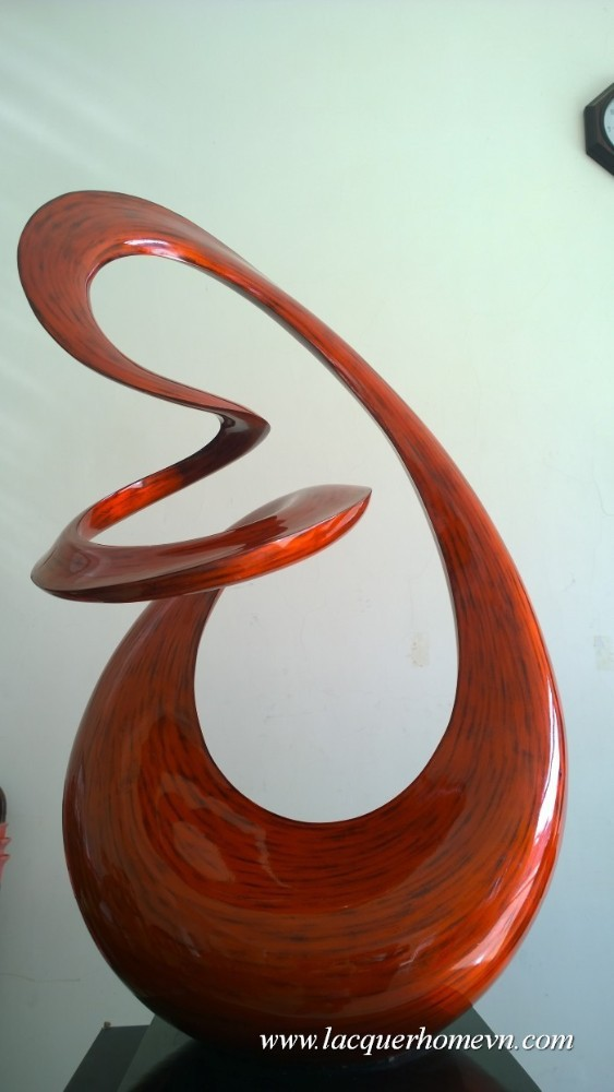 HT3622 polyresin lacquer sculpture, made in Vietnam- http://lacquerhomevn.com/