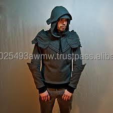 74925733 Dark Grey Armored Knight Hoodie/ninja Armor Hoodie Custom - Buy Grey ...