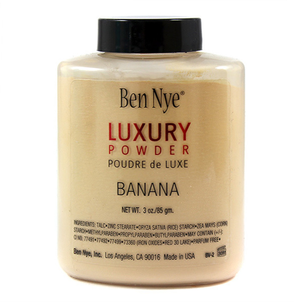 Ben Nye Banana Luxury Powder 3/1.5 oz Bottle Face Makeup Free USA Shipping
