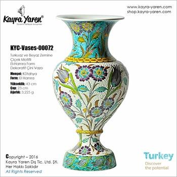 Hand Made Ceramic Vase Decorative Hand Made Traditional Turkish