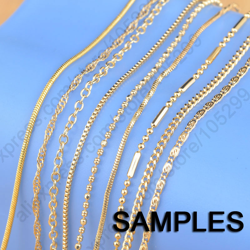 Sample 9pcs Mix 9 Styles 18 Yellow Gold Filled Jewelry Link Necklace Chains With Lobster Clasps Findings Chain With Lobster Clasp Necklace Chaingold Filled Jewelry Aliexpress